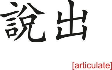 Chinese Sign for articulate