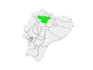 Map of Pichincha. Ecuador.