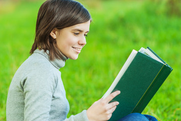Girl reads book