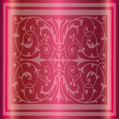 Abstract Pink Background of Elegant Vintage Floral
