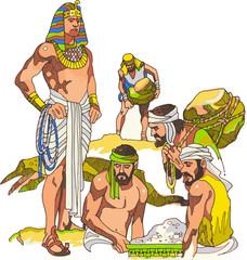 El Faraón esclaviza a los Judíos en Egipto