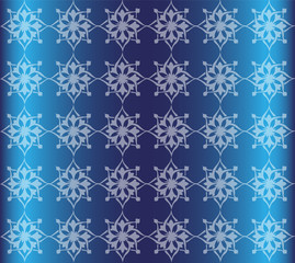Blue Floral Luxury Ornamental Pattern Background