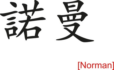 Chinese Sign for Norman