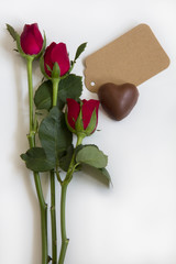 Roses, Chocolate and Card
