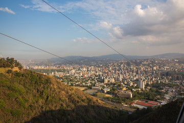 Top view of the city of Caracas.