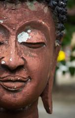 Half of a buddha face