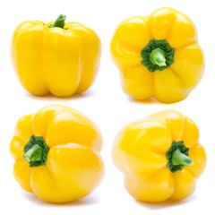 Group of yellow bell pepper or capsicum