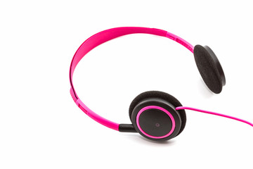 Pink headphones.