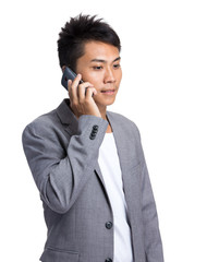 Businessman talk to mobile phone
