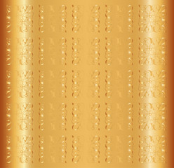 Gold Background Vector Floral Luxury Ornamental Pattern