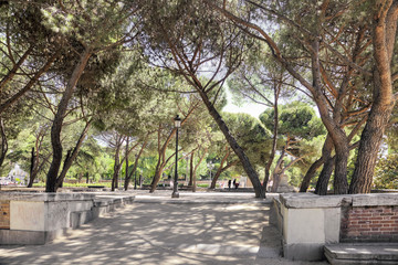 Madrid. Cityscape. Sabatini Gardens