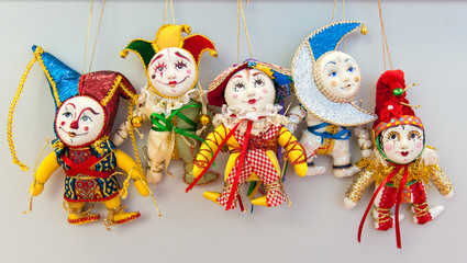 bright christmas clown figures decorations