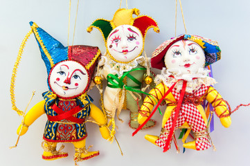 bright christmas clown figures decorations