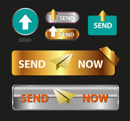 Send Now Button, Collection of Send Now Icon