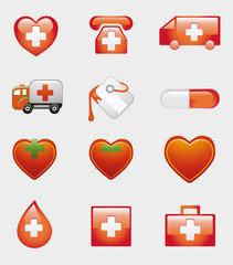 Set of Medical Icons Symbol
