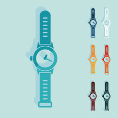 Flat design: watch