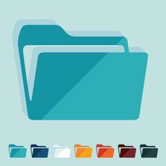 Flat design: folder