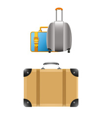 Travel Suitcases Vector Illustration