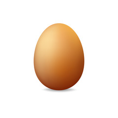 Egg on a white background