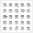 Calendar icons set - 67854142