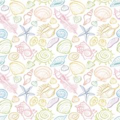 貝殻 カラフル背景