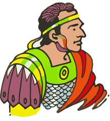 Emperador Romano en uniforme militar