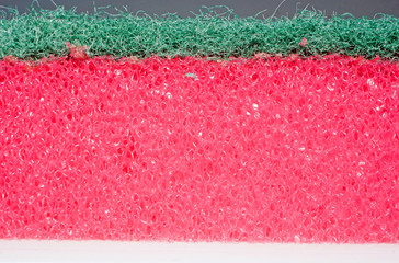 Texture sponges for washing dishes in profile