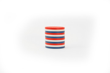 USA Colored Casino Chips Striped