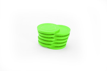 Green Casino Poker Chips