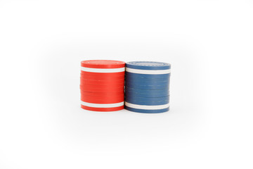 USA Colored Casino Chips Stripe