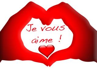coeur rouge passion, je vous aime !