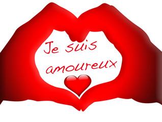 coeur rouge passion, je suis amoureux !