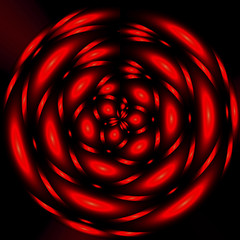 Abstract circles on red background