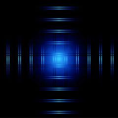 Abstract blue light on dark background