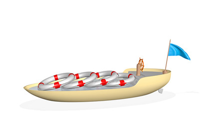 boat with life preservers - draft security