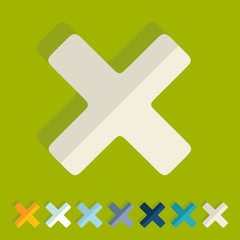 Flat design: cross