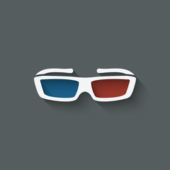 3d glasses design element