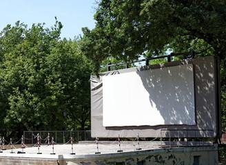 écran de cinéma en plein air