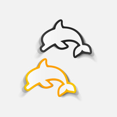 realistic design element: dolphin