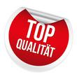 Roter Top Qualität Sticker