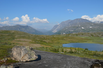 lake in the mountains in northern Norway