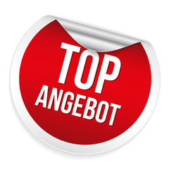 Roter Top Angebot Sticker
