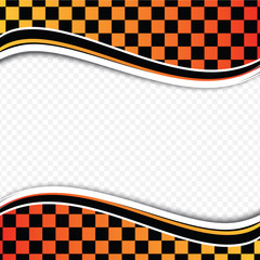 Checkered background (racing background). Vector illustration.