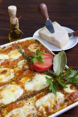 Crispy baked Melanzane alla Parmigiana