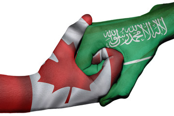 Handshake between Canada and Saudi Arabia