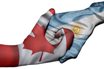 Handshake between Canada and Argentina