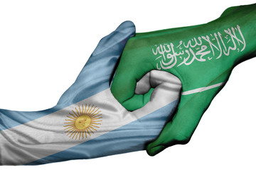 Handshake between Argentina and Saudi Arabia