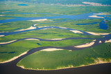 Fototapeta Aerial view on North Yakutia landscapes