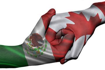 Handshake between Mexico and Canada