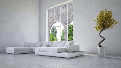 Stylisches modernes Wonzimmer Interieur / Interior